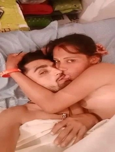 Desi Young Couple Romance And Kissing