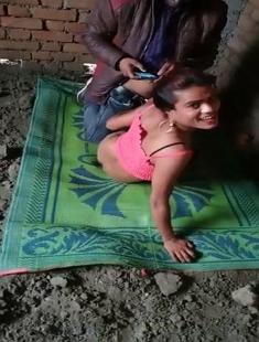 Desi Randi Fucking Outdoor In Threesome