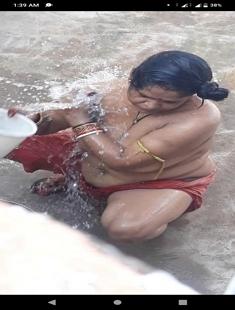 Bhabhi Outdoor Bathing