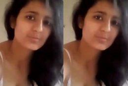 Cute Look Desi Girl Nude Selfie