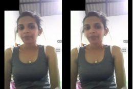 Cute Lankan Girl Showing Boobs on Video Call