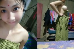 Cute Look Assam Girl Record Nude Selfie