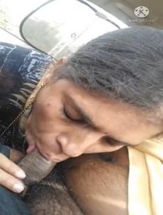 Desi Randi Blowjob In Car And Drink Cum