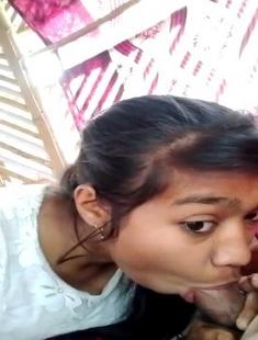 Cute Desi Girl Blowjob To Her Boyfriend