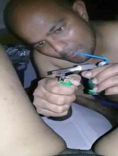 Hot Naughty Bhabhi Licking Pussy With Hukka Smoke
